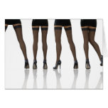 Sexy Legs with Stockings as Abstract Background Greeting Card