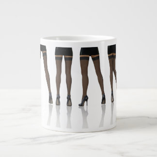 Sexy Legs with Stockings as Abstract Background Jumbo Mug