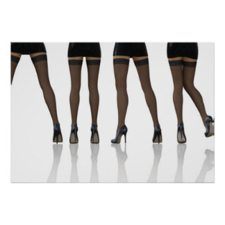 Sexy Legs with Stockings as Abstract Background Poster