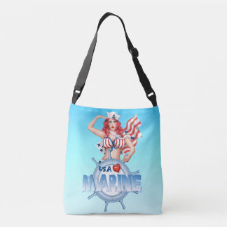 SEXY MARINE  All-Over-Print Cross Body Bag MEDIUM
