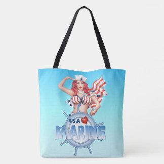 SEXY MARINE  All-Over-Print Tote Bag LARGE