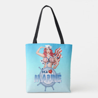 SEXY MARINE  All-Over-Print Tote Bag MEDIUM