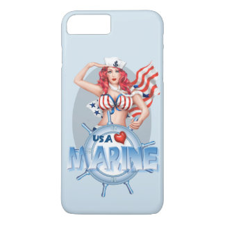 SEXY MARINE  CARTOON Apple iPhone 7 Plus  BT iPhone 8 Plus/7 Plus Case