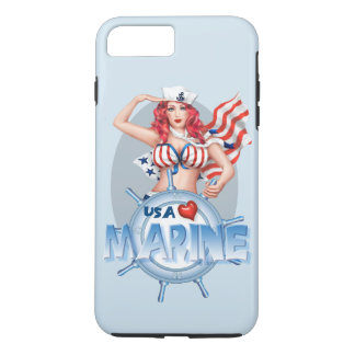 SEXY MARINE  CARTOON Apple iPhone 7 Plus  TOUGH iPhone 8 Plus/7 Plus Case