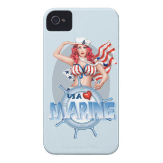 SEXY MARINE  CARTOON  iPhone 4  BT iPhone 4 Case-Mate Cases
