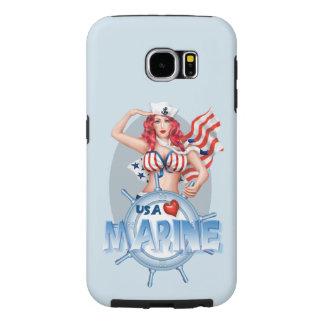 SEXY MARINE  CARTOON  Samsung Galaxy S6  TOUGH Samsung Galaxy S6 Cases