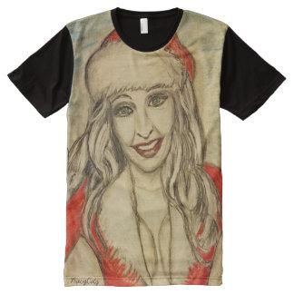 Sexy Ms Santa All-Over Print T-Shirt