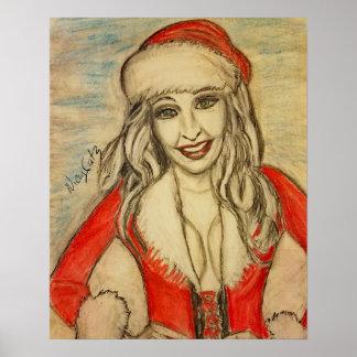 Sexy Ms Santa Poster