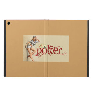 Sexy poker woman iPad air case