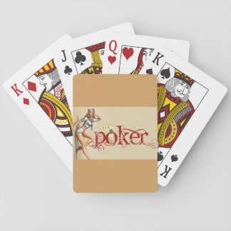 Sexy poker woman playing cards