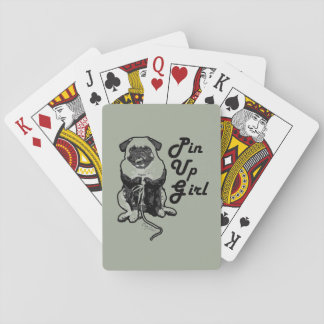 Sexy Pug is the real Pin Up Girl Playing Cards