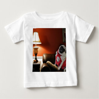 Sexy pug lingerie model, Misha, waiting for you. Baby T-Shirt