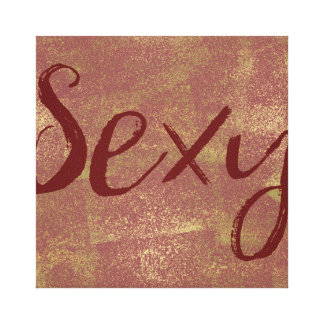 Sexy Red Gold Canvas Print