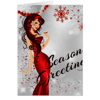 Sexy Seasons Greetongs With Campagne and Glitter Card
