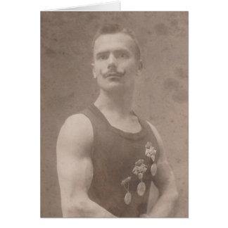 Sexy Vintage Acrobat Card