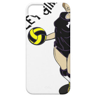 SEXY VOLLEY GIRL BLACK TEXT iPhone 5 CASE