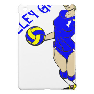SEXY VOLLEY GIRL BLUE TEXT iPad MINI COVER