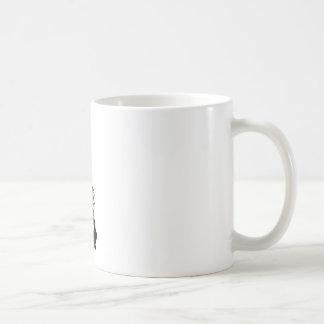 Sexy woman sitting indian style basic white mug