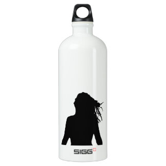 Sexy woman sitting indian style SIGG traveller 1.0L water bottle