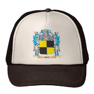Sey Coat of Arms - Family Crest Mesh Hats