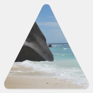 Seychelles beach triangle sticker