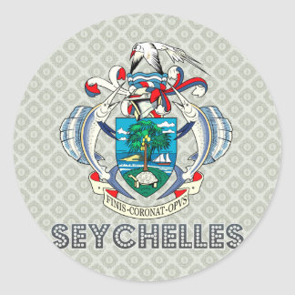 Seychelles Coat of Arms Round Sticker