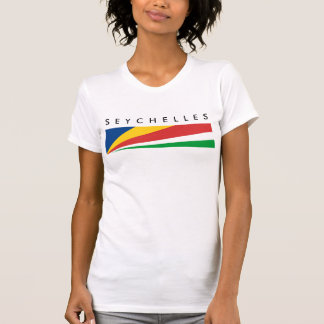 seychelles country flag nation symbol name text T-Shirt
