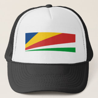 seychelles country flag nation symbol name text trucker hat