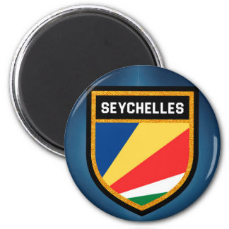 Seychelles Flag 6 Cm Round Magnet
