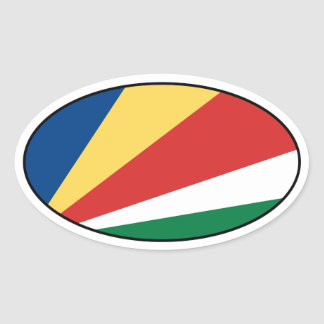 Seychelles Flag Oval Sticker