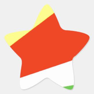 Seychelles Flag Star Sticker