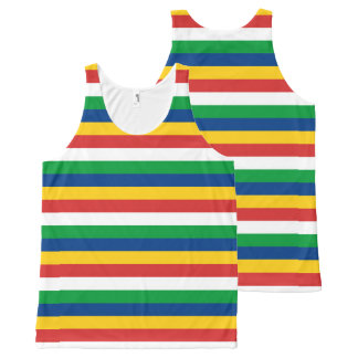 Seychelles flag stripes lines pattern All-Over print tank top