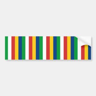 Seychelles flag stripes lines pattern bumper sticker