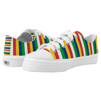 Seychelles flag stripes lines pattern low tops