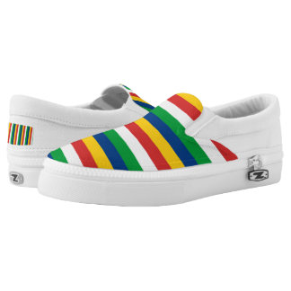 Seychelles flag stripes lines pattern slip on shoes