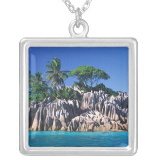 Seychelles. Ilot St. Pierre (near Praslin Silver Plated Necklace