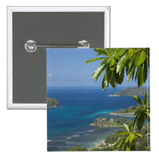 Seychelles, Island of Mahe. Western coast of 15 Cm Square Badge