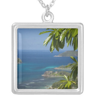 Seychelles, Island of Mahe. Western coast of Silver Plated Necklace