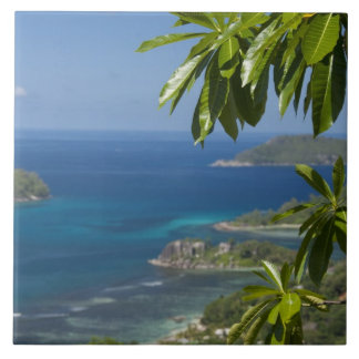 Seychelles, Island of Mahe. Western coast of Tile