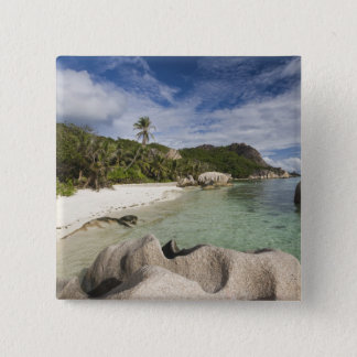 Seychelles, La Digue Island, L'Union Estate 15 Cm Square Badge