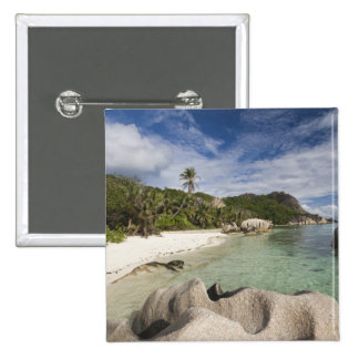 Seychelles, La Digue Island, L'Union Estate 15 Cm Square Badge