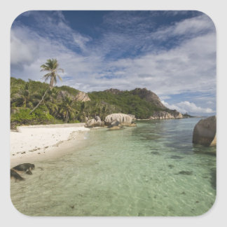 Seychelles, La Digue Island, L'Union Estate 2 Square Sticker