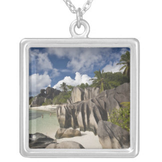 Seychelles, La Digue Island, L'Union Estate Silver Plated Necklace