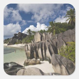 Seychelles, La Digue Island, L'Union Estate Square Sticker