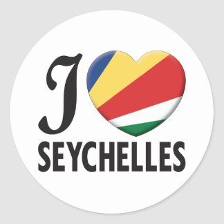Seychelles Love Classic Round Sticker