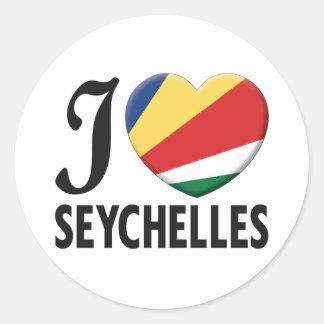 Seychelles Love Round Sticker