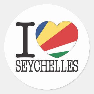 Seychelles Love v2 Classic Round Sticker