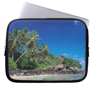 Seychelles, Mahe Island, Anse Royale Beach. 2 Laptop Sleeve