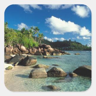 Seychelles, Mahe Island, Anse Royale Beach. 3 Square Sticker