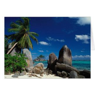 Seychelles, Mahe Island, Anse Royale Beach. Card